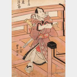 Utagawa Toyokuni (1769-1825), Pentaptych Woodblock Print