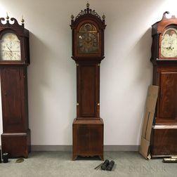 George III Brass-inlaid Mahogany Tall Case Clock