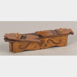 Inlaid Wooden Sailor's Puzzle Box