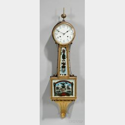 Mahogany Banjo Clock by The Waterbury Clock Company