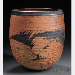 Large Vivika & Otto Heino Wood-fired Stoneware Bowl