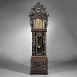 Monumental Tiffany & Company Quarter-chiming Mahogany Floor Clock