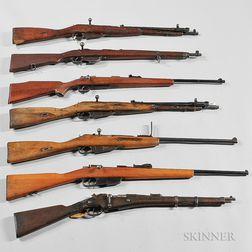 Seven Bolt-action Rifles