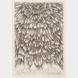 Leonard Baskin (American, 1922-2000)      Cave Bird