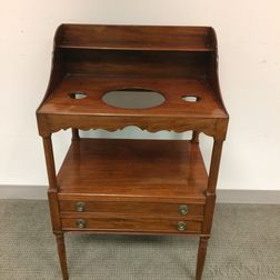 Federal Mahogany Two-drawer Chamberstand