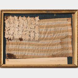 Framed Ste. Mere Eglise Silk American Flag