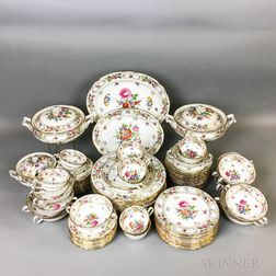 "Hammersley ""Dresden Sprays"" Porcelain Partial Dinner Service.     Estimate $200-300"