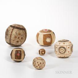 Six Eskimo Game Balls