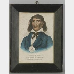 """Bufford's, lithographer (New York, 19th Century)  """"Abraham Quary:  The Last Indian of the Nantucket Tribe."""""""
