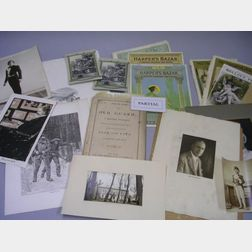Collection of Assorted Late 19th and Early 20th Century Book Plates, Prints,   Magazine Covers, and Ephemera