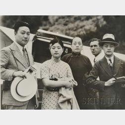 1933 International News Press Photo of a Chinese Banker with Attached Snipe
