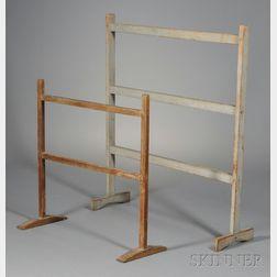 Two Trestle-foot Drying Racks