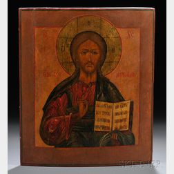 Russian Icon Depicting Christ the Pantocrator