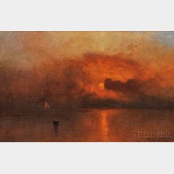 Charles Henry Gifford (American, 1839-1904)      Red Skies at Night