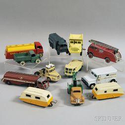 Twelve Meccano Dinky Toys Die-cast Metal Vehicles
