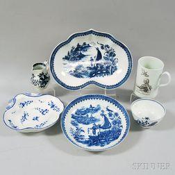 Six English Ceramic Table Items