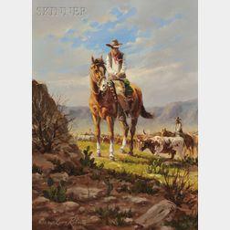 Gary Lynn Roberts (American, b. 1953)      Two Works: Top Hand