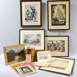 Group of Books, Engravings, and Ephemera