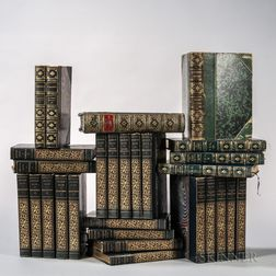 Decorative Bindings, Sets, Approximately Twenty-eight Volumes, Sets and Single Volumes, Navy Blue.