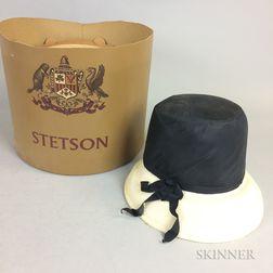 Oleg Cassini Black and Cream Hat
