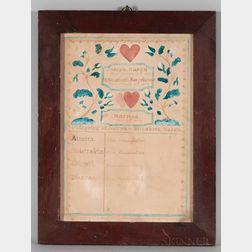 Watercolor Nason Family Record