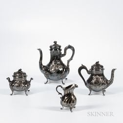 Four-piece French .950 Silver Tea and Coffee Service