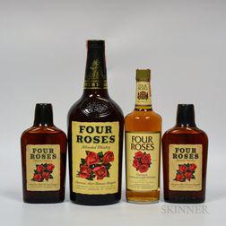 Four Roses, 1 1/2 gallon bottle 1 4/5 quart bottle 2 pint bottles
