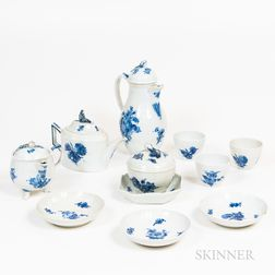 Group of Blue- and White-glazed Porcelain Tableware