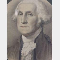 Framed Print of George Washington.