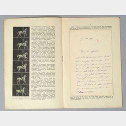 Signed Etienne-Jules Marey Letter
