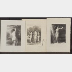 Henri Fantin-Latour (French, 1836-1904)      Lot of Three Images:  Reveil