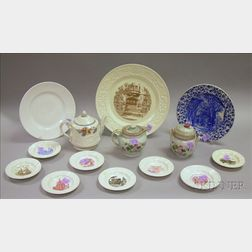 Group of Assorted Wedgwood Ceramic Tableware Articles and an Adams Calyx Ware   Creamer and Sugar