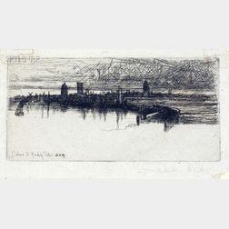 Francis Seymour Haden  (British, 1818-1910)      Little Calais Pier