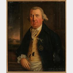 Anglo/American School, 18th Century      Portrait of a Mason.