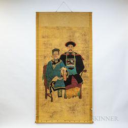 Hanging Scroll Ancestral Portrait