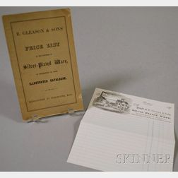 R. Gleason & Sons' Price List of Silver-Plated Ware   Booklet