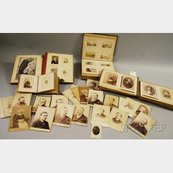 Four Large Albums of Cabinet Cards and Cartes-de-Visite