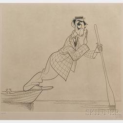 Al Hirschfeld (American, 1903-2003)      Buster Keaton