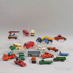 Twenty Meccano Dinky Toys Die-cast Metal Vehicles
