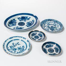 Five Export Porcelain Table Items