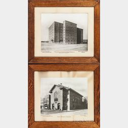 Two Large Format Photographs of Boston-area Buildings