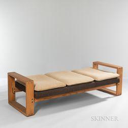Hans Krieks Sled-base Upholstered Bench