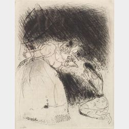 Lot of Three Prints:    Marc Chagall (Russian/French, 1887-1985),   Mother and Daughter