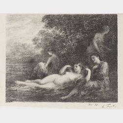 Henri Fantin-Latour (French, 1836-1904)    Baigneuses