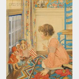 Elizabeth Shippen Green (American, 1871-1954)      School for Dollies
