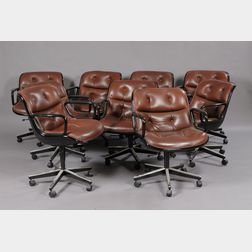 Nine Charles Polluck Office Chairs