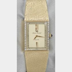 14kt Gold and Diamond Wristwatch, Lucien Piccard