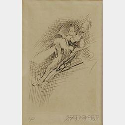 Jacques Villon (French, 1875-1963)      Figure Study.