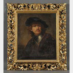 After Rembrandt van Rijn (Dutch, 1606-1669)      Self-portrait as a Young Man