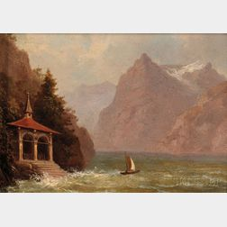 Charles Henry Gifford (American, 1839-1904)      The Lakeside Chapel